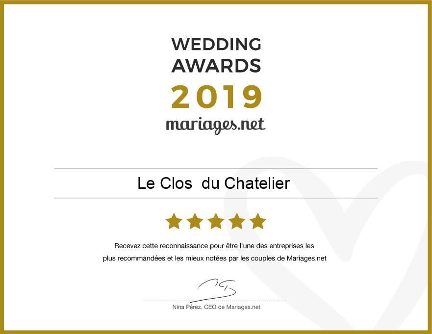 wedding awards clos du chatelier
